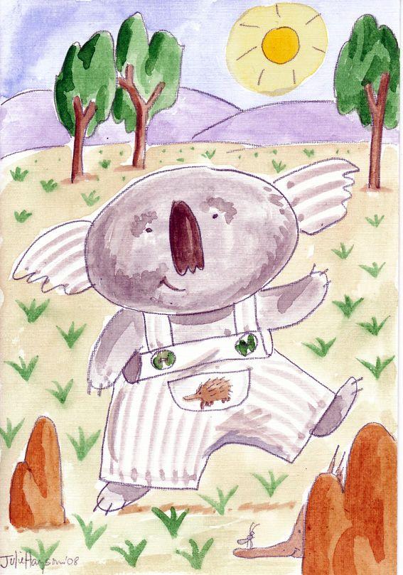 #Kolya #Koala #watercolour #card #australia #juliehaysom