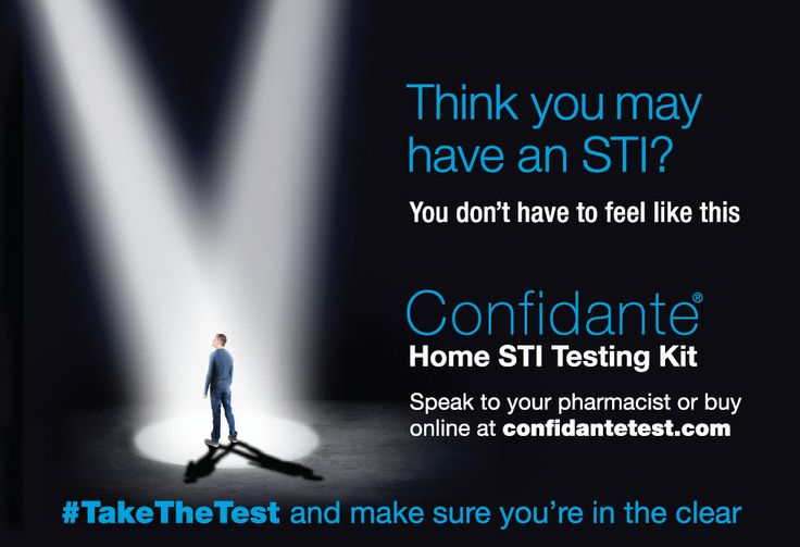 Don't be embarassed if you think you may have an STI- just #TakeTheTest and make sure you're in the clear http://www.confidantetest.com