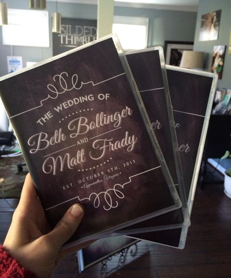 Chalkboard Inspired Wedding Dvd Case Cover Perfect For