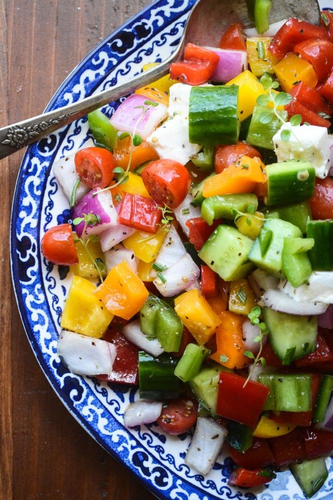 Healthy Chopped israeli Salad by theviewfromgreatisland #Salad #Israeli #Healthy
