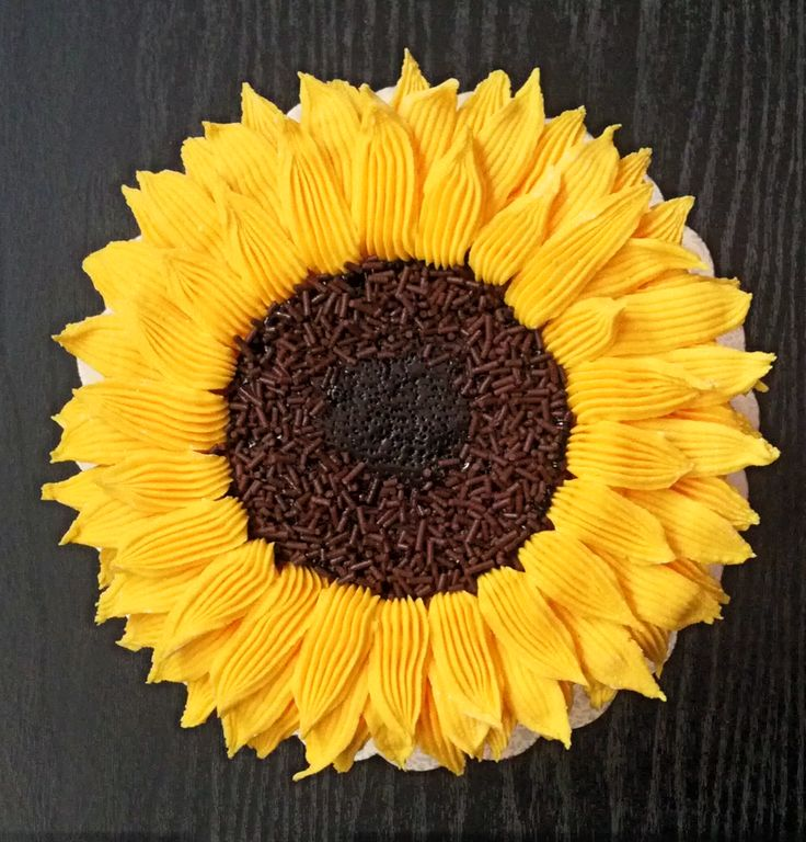 Sunflower cake top!