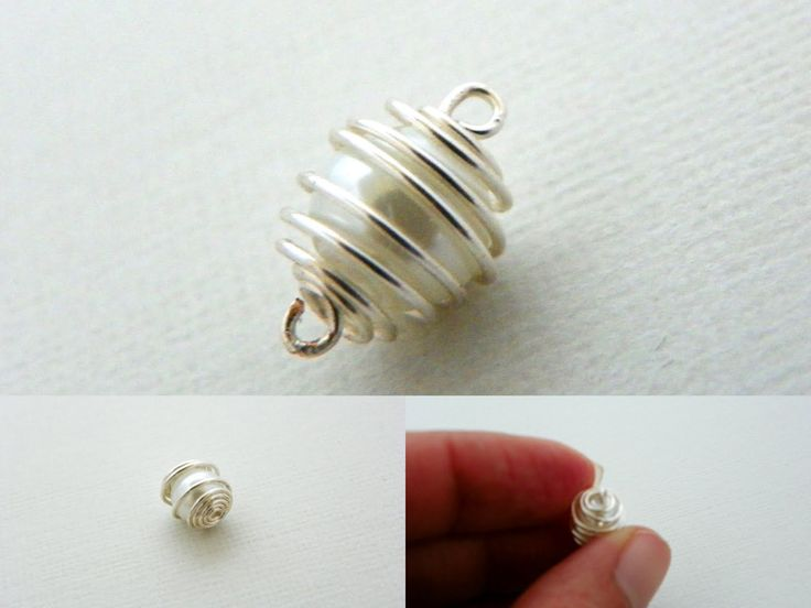 Estylo Jewelry: Bridal Earrings Tutorial - Pearl in a Silver Cage DIY  I'd use the wire cage as a go-to wrap for baubles without holes...  Easy and elegant!