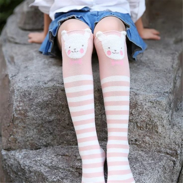 Cotton Knee High Socks For Kids Girl Print Cute Panda Cat Fox Cartoon Long Socks Children Winter Boot Socks Striped #>=#>=#>=#>=#> Click on the pin to check out discount price, color, size, shipping, etc. Save and like it!