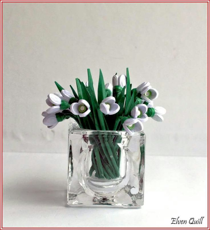 Snowdrops - quilling by Elven Quill www.facebook.com/elven.quill