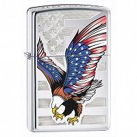 Zapalniczka Zippo American Eagle, High Polish Chrome