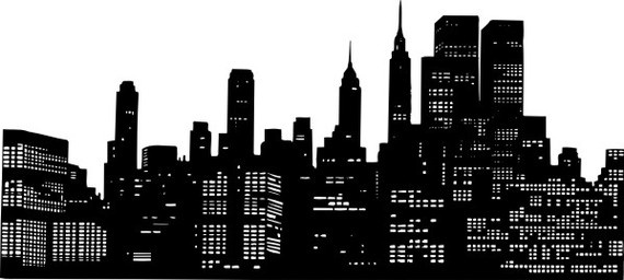 Wall Decal New York City Skyline Cityscape by WallStarGraphics, $83.00