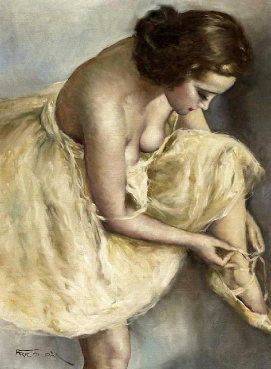 Pál Fried (Hungarian, 1893-1976): Ballerina (Oil on canvas)