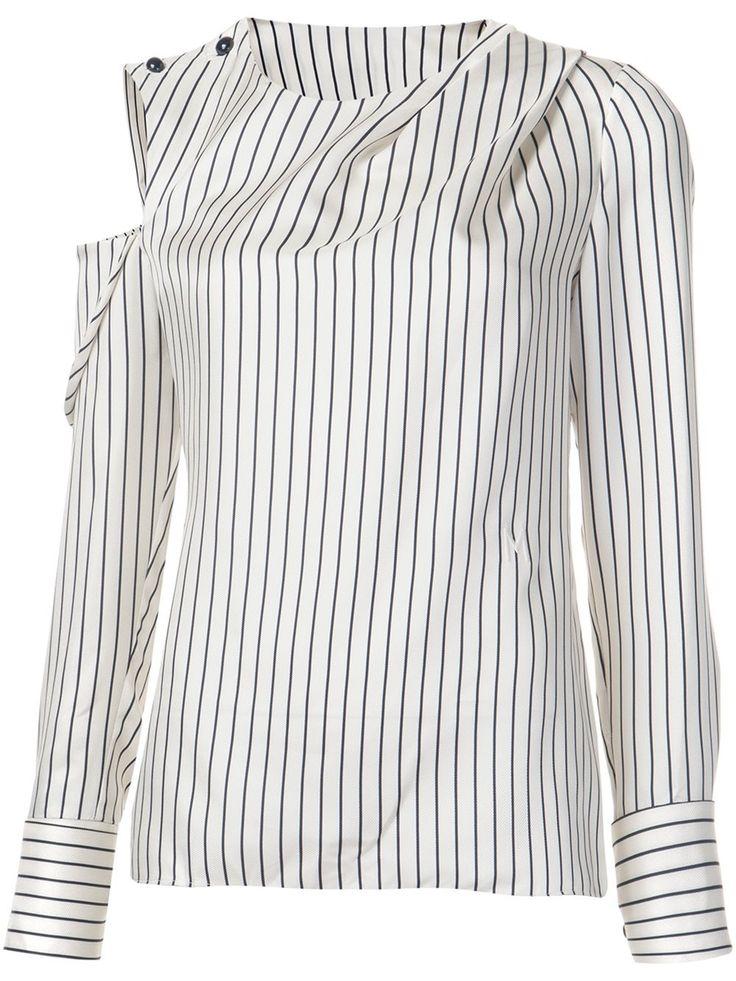 Monse полосатая рубашка с открытым плечом