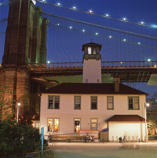 Brooklyn Ice Cream Factory, Brooklyn Bridge, Hasseblad and Fuji Provia 100 Film