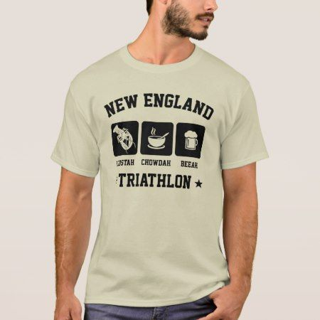 New England Triathlon - Lobster Chowder Beer T-Shirt - tap to personalize and get yours