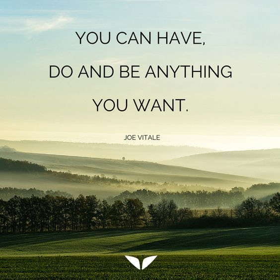 You can have, do and be anything you want. – Joe Vitale thedailyquotes.com