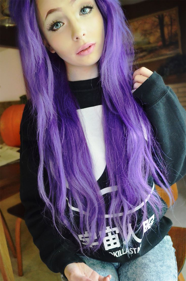 Purple Hair Style by wearticles.com