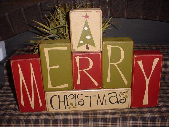 oh how I love these: Christmas Crafts, Christmas Wood, Christmas Blocks, Wood Blocks, Merrychristmas, Christmas Decor, Wood Crafts, Wooden Blocks, Merry Christmas