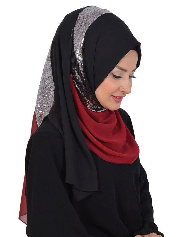 Shawl Code: AS-0015 Muslim Women Hijab Scarf by HAZIRTURBAN