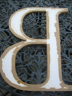 leaf and letter handmade: diy dollar store giant letter!