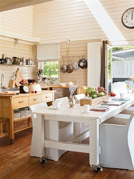 Cocina con isla y office