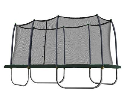 We like that the Rectangle Trampoline and Enclosure meets the ASTM safety standards and that it has a good bounce every where on it's surface.