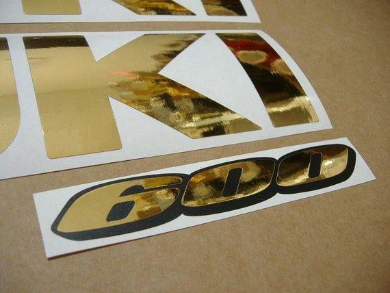GSXR 600 chrome mirror blue customized decals stickers graphics set logo gixxer
