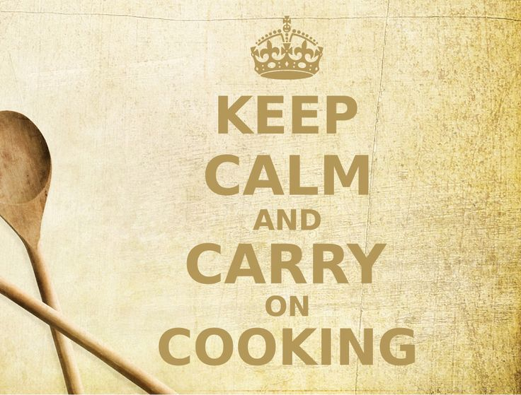 Keep Calm And Carry On Cooking Wall Sticker Part 92