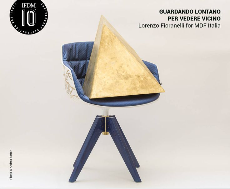 #GuardareLontanoPerVedereVicino by Lorenzo Fionarelli is a reinterpretation of the #FlowSlimPadded chair by #MDFItalia created for the exhibition #Adecadeofevolutionindesign in occasion of the tenth #Anniversary of #IFDM #IlFoglioDelMobile celebrated at #FondazioneStelline