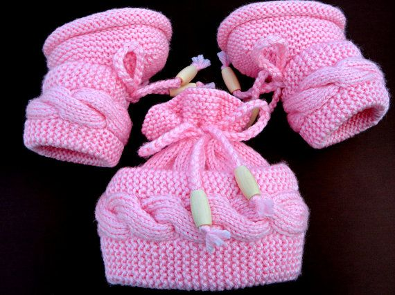 P A T T E R N Knitting Baby Set Baby Shoes Knitted Baby Hat