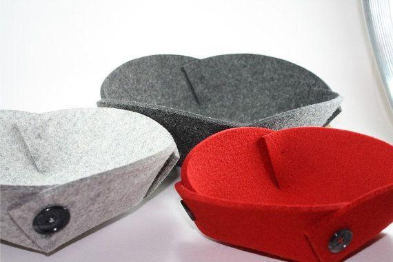 Felt Nesting Bowls in 5mm Thick Virgin Merino Wool от feltplanet