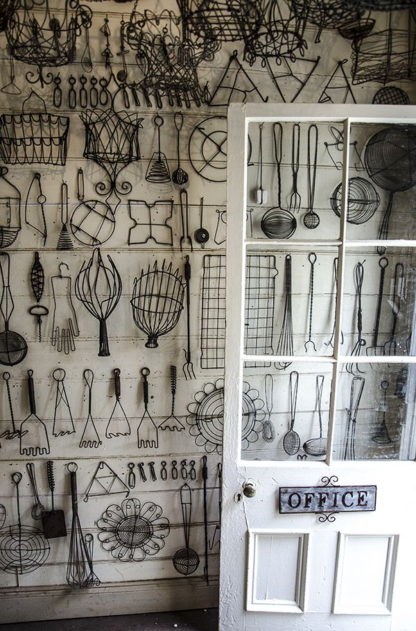 Wire work at Shades of Gray, Castlemaine