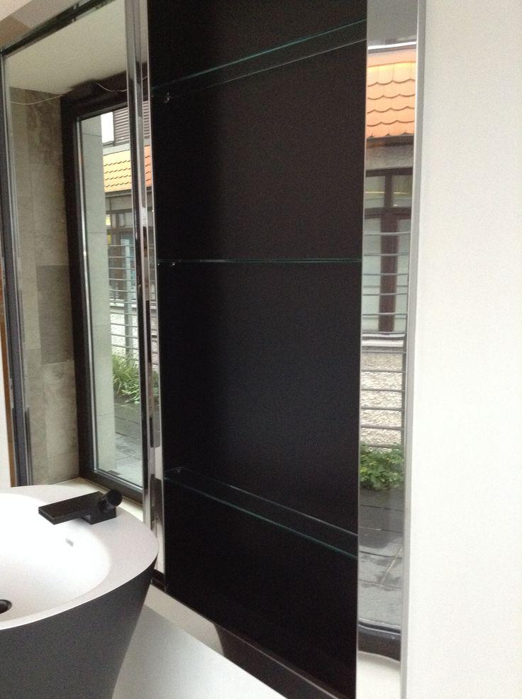 armário banheiro atrás da pia porta de correr embutido parede