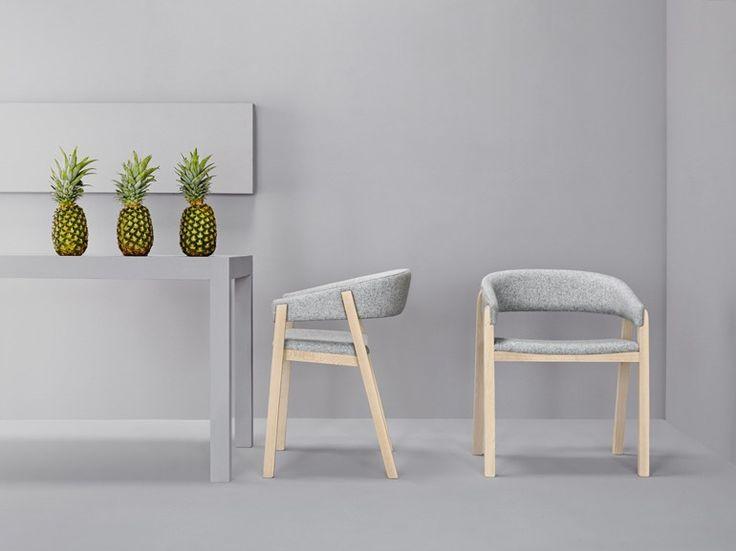 Upholstered fabric chair OSLO by Missana design Studio Missana