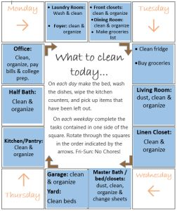 Ana - Cleaning Schedule