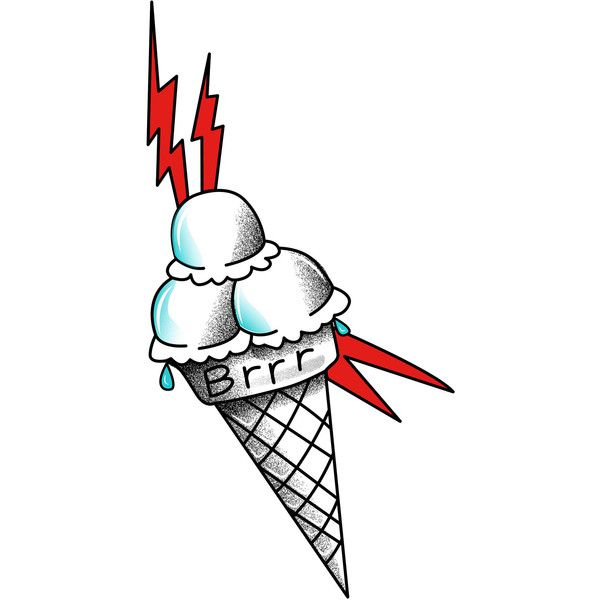 Gucci Mane Ice Cream Temporary Tattoo ($4) ❤ liked on