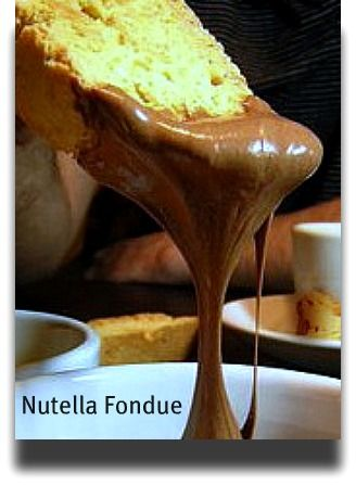 Nutella Fondue :: So good it doesn't have a season. You know it, I know it. You can dip anything in it and it will not fail to be fantastic. Let party guests have at it while you {finally} put your feet up! #nutella #fondue #dip