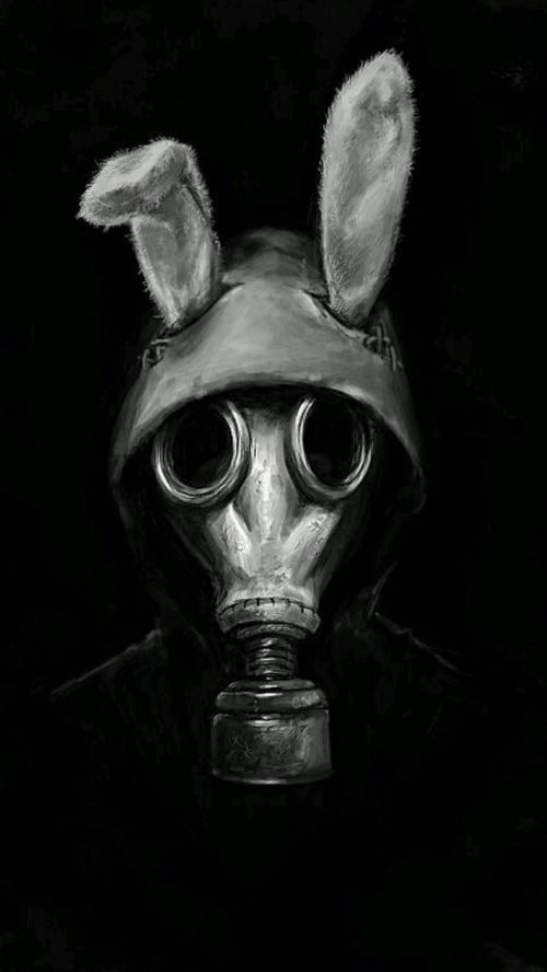 Image de dark, creepy, and gas mask