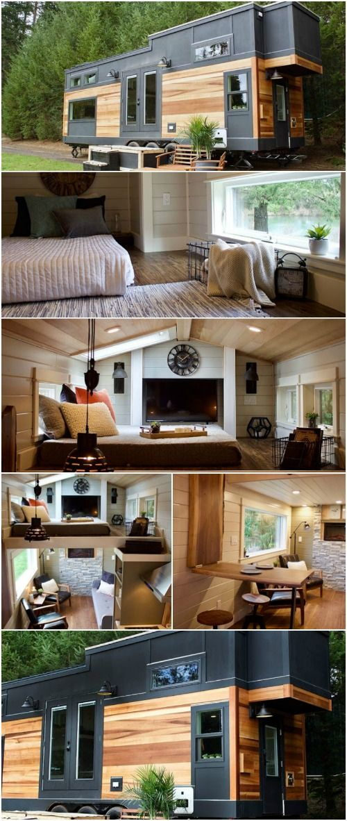 Exquisite Nature-Inspired 240 Square Foot Tiny House by Tiny Heirloom - The talented team at Tiny Heirloom in Portland, Oregon have produced some of our favorite tiny houses with beautiful craftsmanship and stylish designs. This next tiny home is no different.