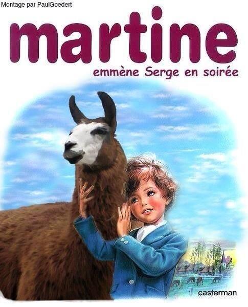 Martine emmène Serge en soirée