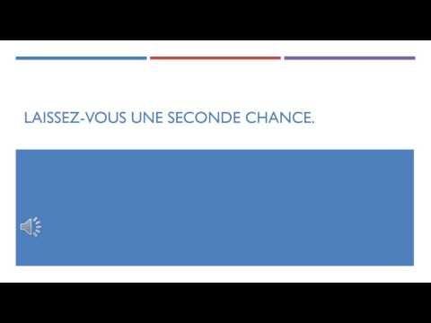 Laissez-vous une seconde chance. - YouTube