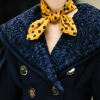 Wonderful Polka Dot Dresses and Scarf Designs for Women