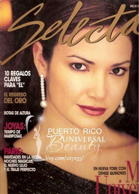 Denise Quiñones, Miss Universe 2001. Revista Selecta (12/2001) #DeniseQuiñones #MissUniverse2001 #MissUniverso2001 ##MissUniverso #MissPuertoRico #MissPuertoRicoUniverse2001 #DeniseQuinones #MissUniverse