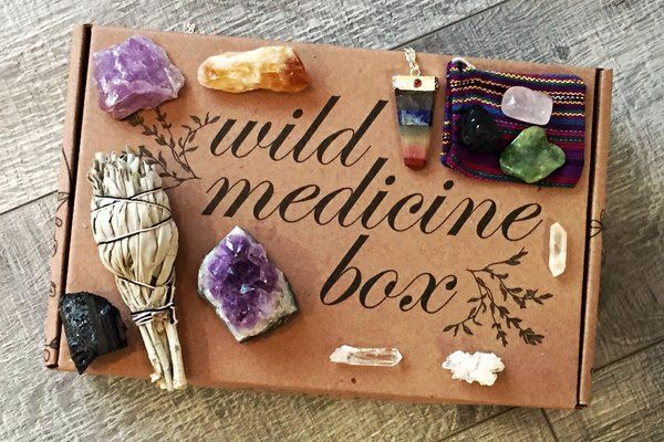 Wild Medicine Herbal Healing Box full of plant & earth medicine from our Apothecary.