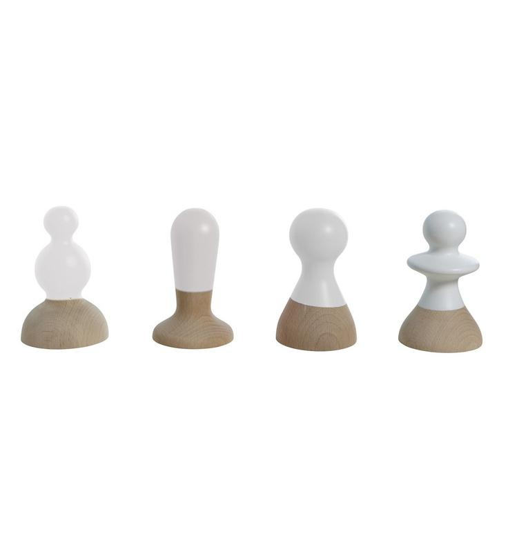 Set de 4 patères Talking Heads - Blanc  59.00 fleux.com