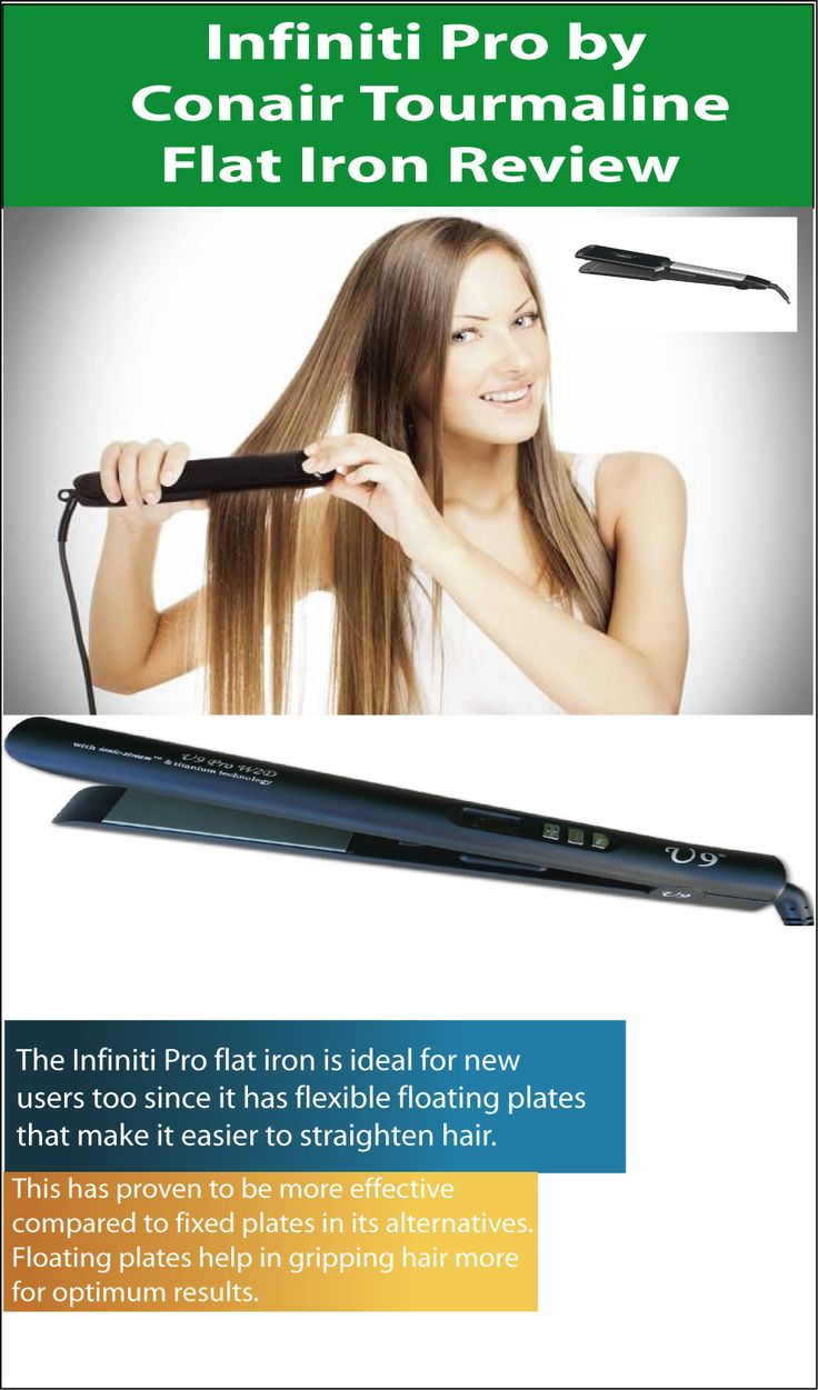 Infiniti Pro by Conair Tourmaline Flat Iron Review  Infiniti Pro by Conair Tourmaline Flat Iron has come as a solution to this and more so providing a fast way to straighten your hair, resulting to what style you may opt it is what you should have around your dressing desk. The Infiniti Pro by Conair Tourmaline Flat Iron comes as a crucial make-up tool offsetting the huge morning rush day