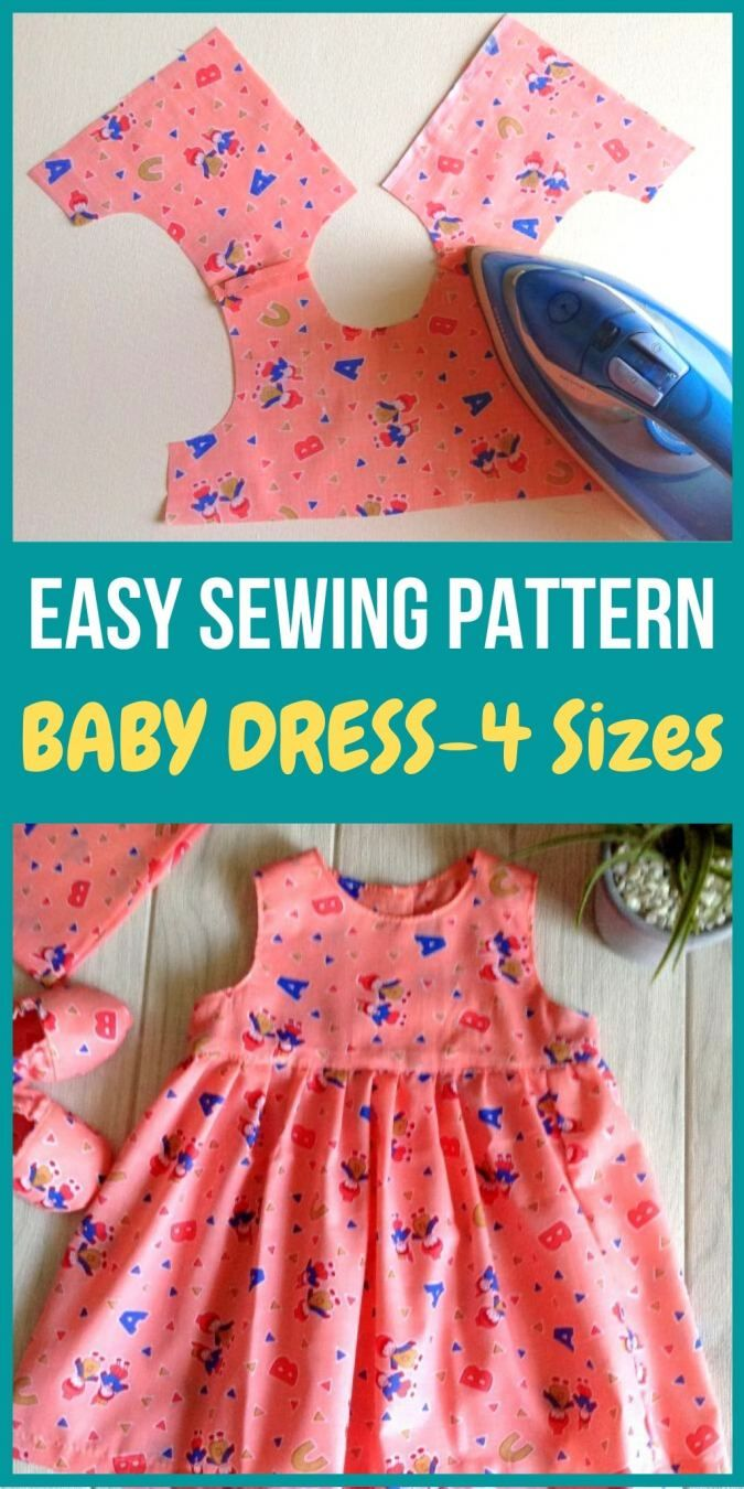 Easy Baby Girl Dress Sewing Pattern In 2020 Girls Dress Sewing Patterns Baby Sewing Patterns Baby Sewing