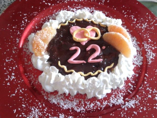 Mini cake for my parent's anniversary....