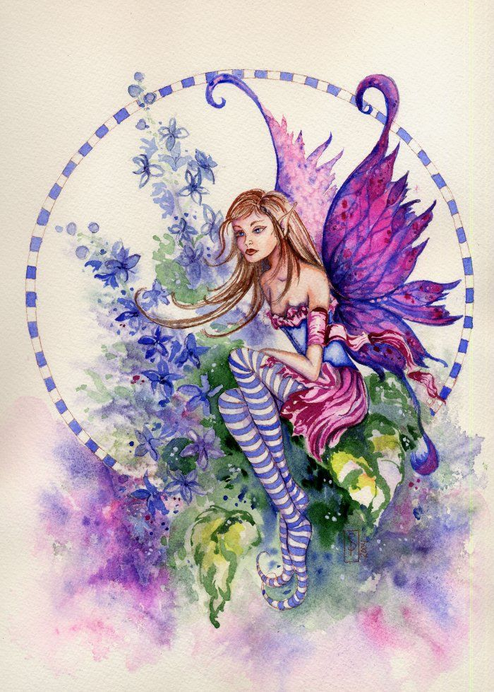 Larkspur Fairy - Sarah Pauline  Fairy Myth Mythical Mystical Legend Elf Faerie Fae Wings Fantasy Elves Faries Sprite Nymph Pixie Faeries Hadas Enchantment Forest Whimsical Whimsy Mischievous