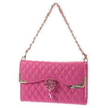 Pung lædertaske til Samsung Galaxy S5 - Hot Pink