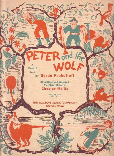 Although this is not the full arrangement I listened to....this Sheet Music to Peter and the Wolf reminds me of one of the fondest memories I have of school, going with my class to the children's symphony and for my first time hearing them play...Peter and the Wolf