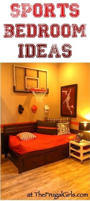 Fun Sports Bedroom Theme Ideas For Teens! #bedrooms | Http://TheFrugalGirls