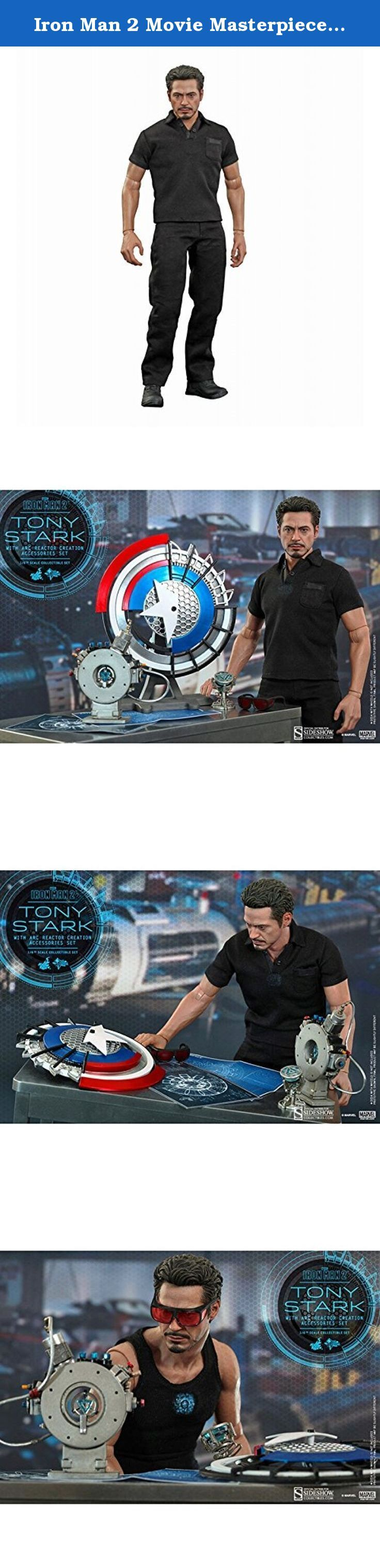 Iron Man 2 Movie Masterpiece Tony Stark with Arc Reactor Creation Accessories Set 1:6 Collectible Figure. n Iron Man 2, Tony Stark was being slowly poisoned to death by the palladium arc reactor in his body, but with the help of the information left by Howard Stark, Tony was able to create a new element for use in a new Arc Reactor. The scene greatly displayed Tony Starks immense intelligence when he re-discovered and created a new element by using a particle accelerator.Hot Toys is...