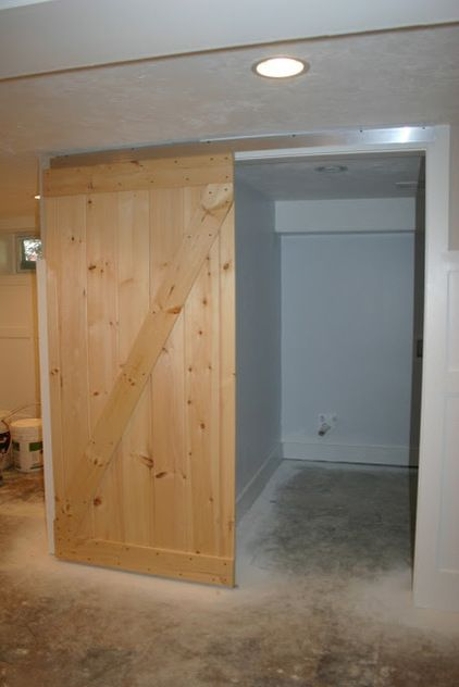 how to build a sliding barn door cheap