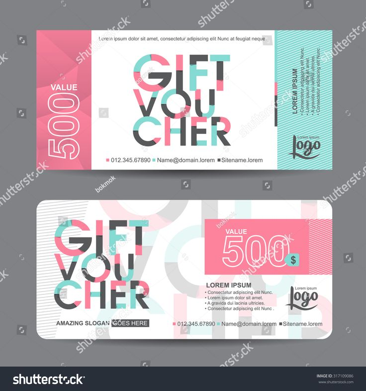 Gift voucher certificate template christmas gift voucher christmas gift voucher template with colorful patterncute gift voucher certificate coupon design templatecollection yadclub Image collections